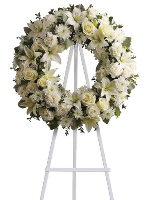 Eternal peace sympathy wreath sympathy flowers from the fresh eternal peace sympathy wreath sympathy flowers from the fresh flower market in aurora co we deliver to local funeral homes and cemeteries mightylinksfo