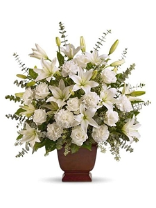 White Tribute Urn